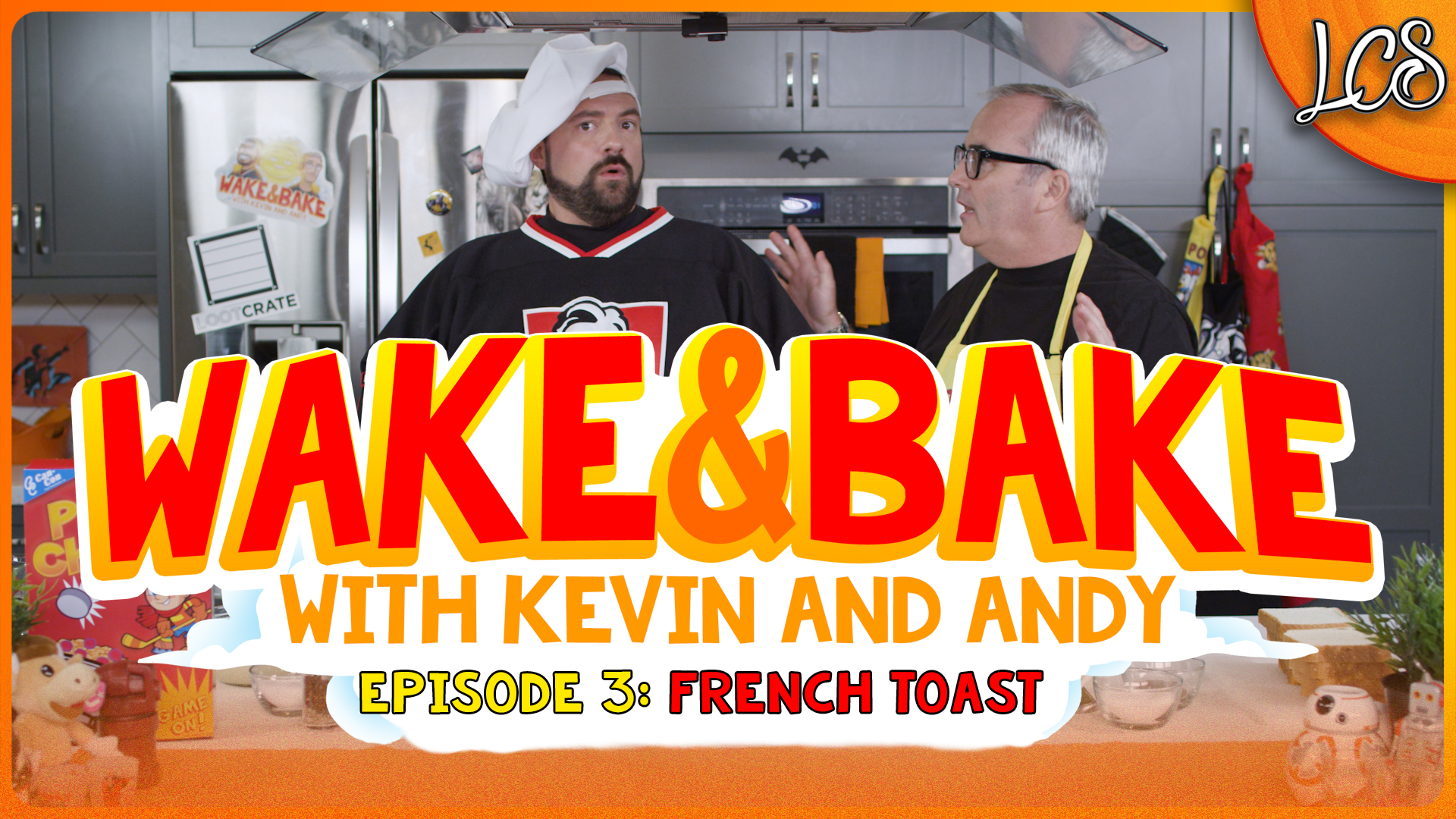 Wake and Bake with Kevin Smith and Andy McElfresh Ep 3: Baked Cereal Milk French Toast | The Daily Crate