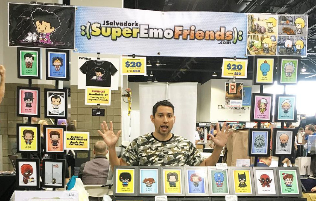 Exclusive: Artist Series Interview with J. Salvador (aka 'SuperEmoFriends')!