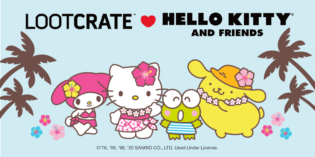 """LOOT CRATE LOVE: Hello Kitty and Friends """"Hello Vacation"""" Crate!!!"""