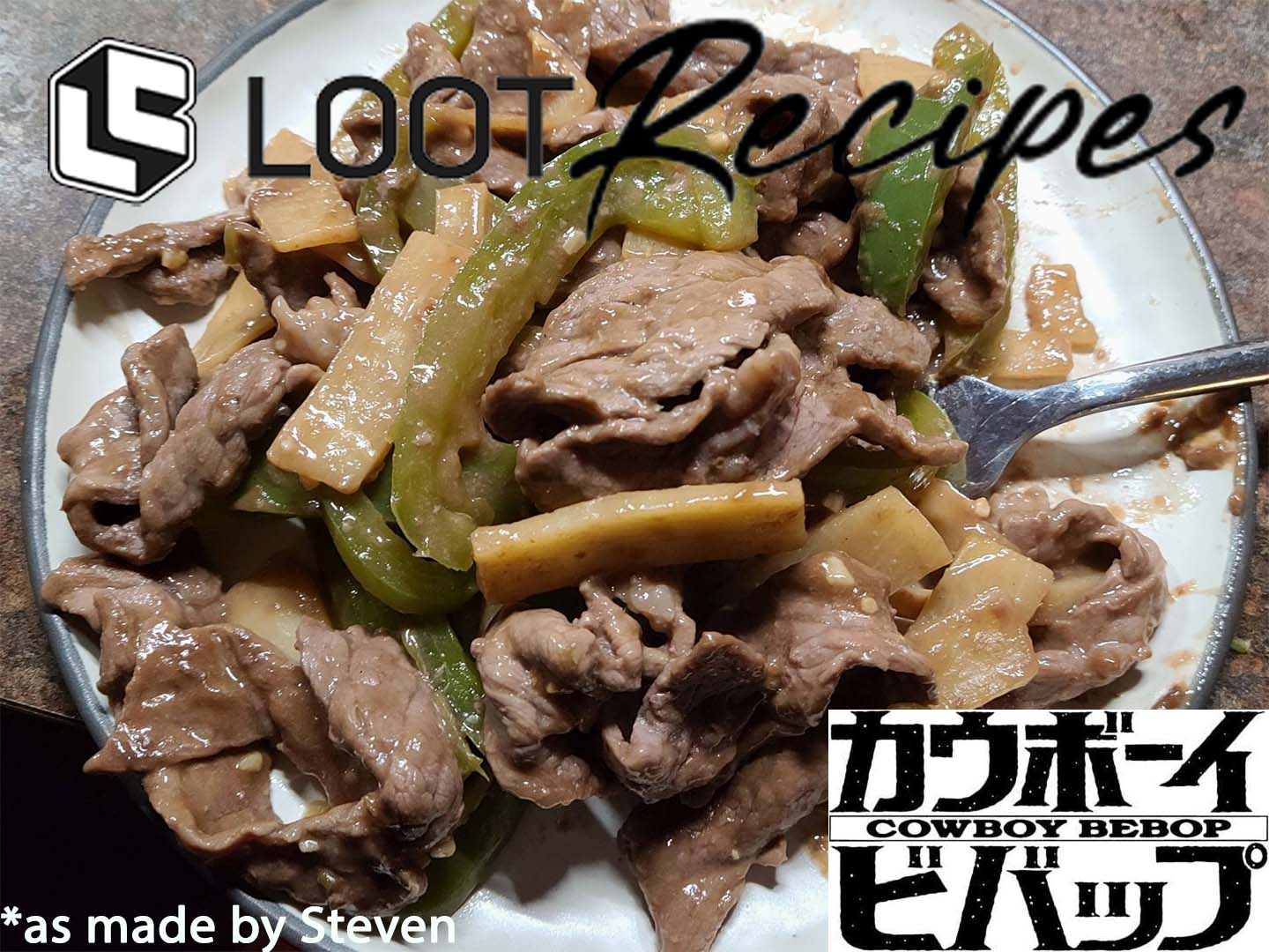 Looter Recipes: Bell Peppers & Beef from Cowboy Bebop