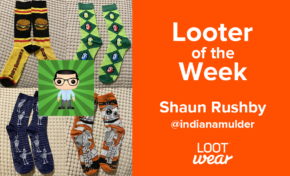Looter of the Week: Shaun Rushby for Loot Socks